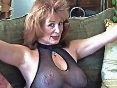 Cougar In Stockings Enjoys Big Dick